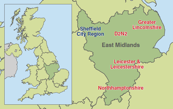 Map - East Midlands